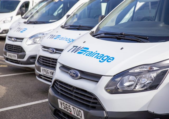 tw drainage branded ford vans